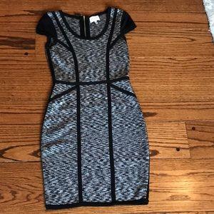 Milly black marl bodycon dress